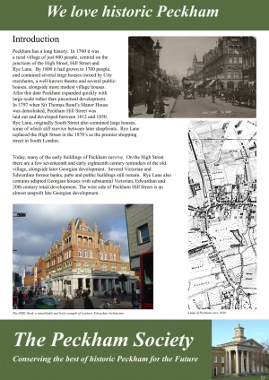 Peckham has a long history. In 1700 it was a rural village of just 600 people, centred on the junctions of the High Street, Hill Street, and Rye Lane. By 1800...