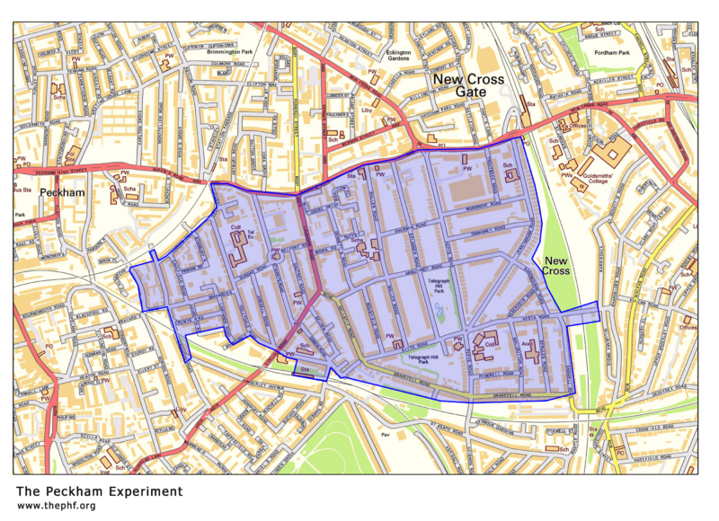 Area covered by the Peckham Experiment