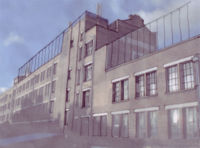 A sketch of a possible addition to the Bussey Building on site 63P.