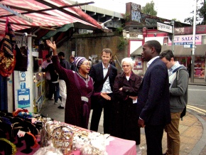 Cllr Johnson Situ visits traders on Rye Lane